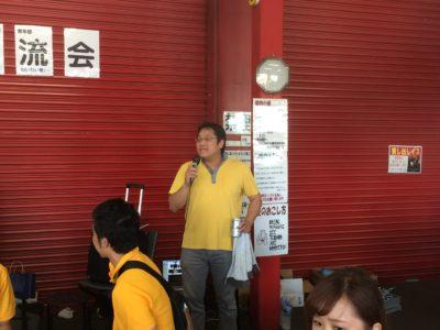 淺井泰博専務理事による乾杯の挨拶。