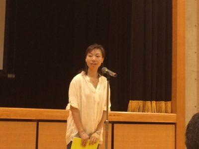 <p>漂香茶館 西山杏実氏(新入会員)による講演</p>