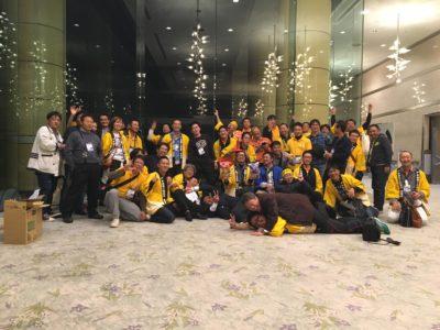 <p>参加した現役半田YEGメンバーとOBのみなさんで集合写真。</p>