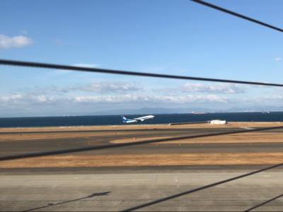 会場の北海道にむけて飛び立っていきました。