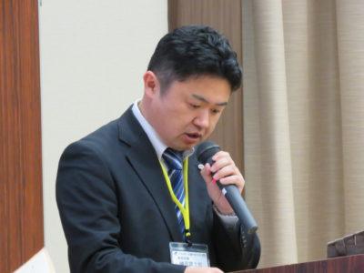 監査報告をする平成28年度監事 榊原顕太郎くん