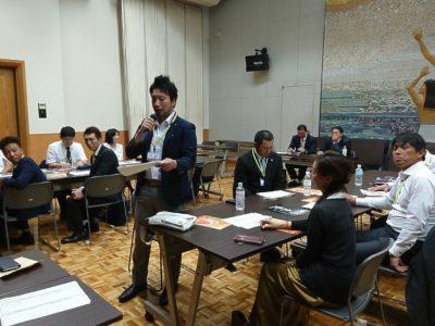 漂香茶館を例に分析した内容を鈴木靖隆くんが発表しました。