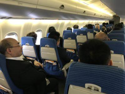 飛行機に乗って仙台へ