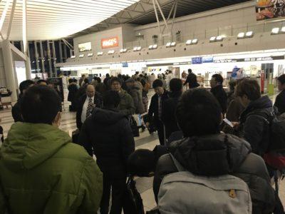 仙台空港 飛行機が飛ぶのを祈ります。