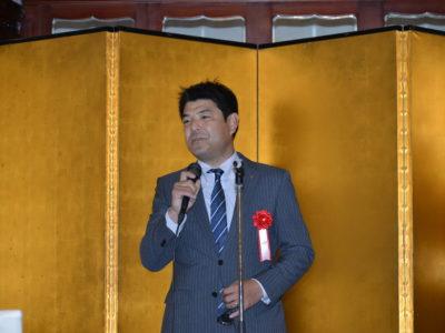 愛知県商工会議所青年部連合会 会長 井澤秀明様にご挨拶いただきました。