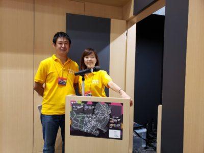 事業を支えた副委員長の中村和也君(左) 司会を務めた小笠原真里君(右)
