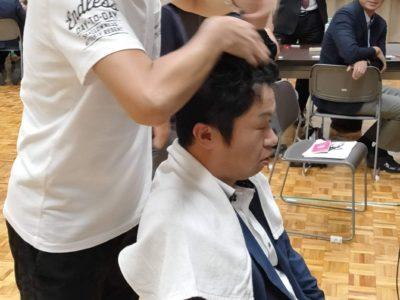 ヘアアレンジ体験リハーサルモデルは榊原顕太郎会長