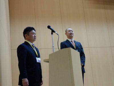 榊原顕太郎会長からの登壇依頼を受けた次年度会長予定者の池田龍一君