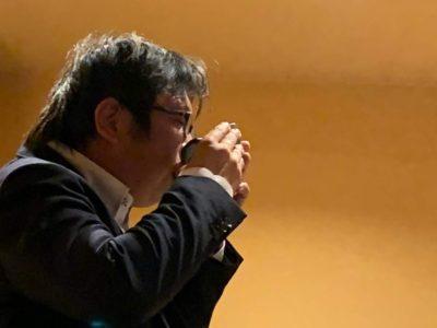 半田YEGの生き字引②卒業生の榊原康仁君。いつも豪快な呑みっぷりです