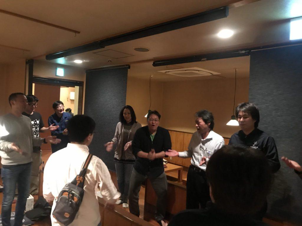 平成30年度会長予定者の淺井さんから締めの挨拶!三本締めをおこないました!!!