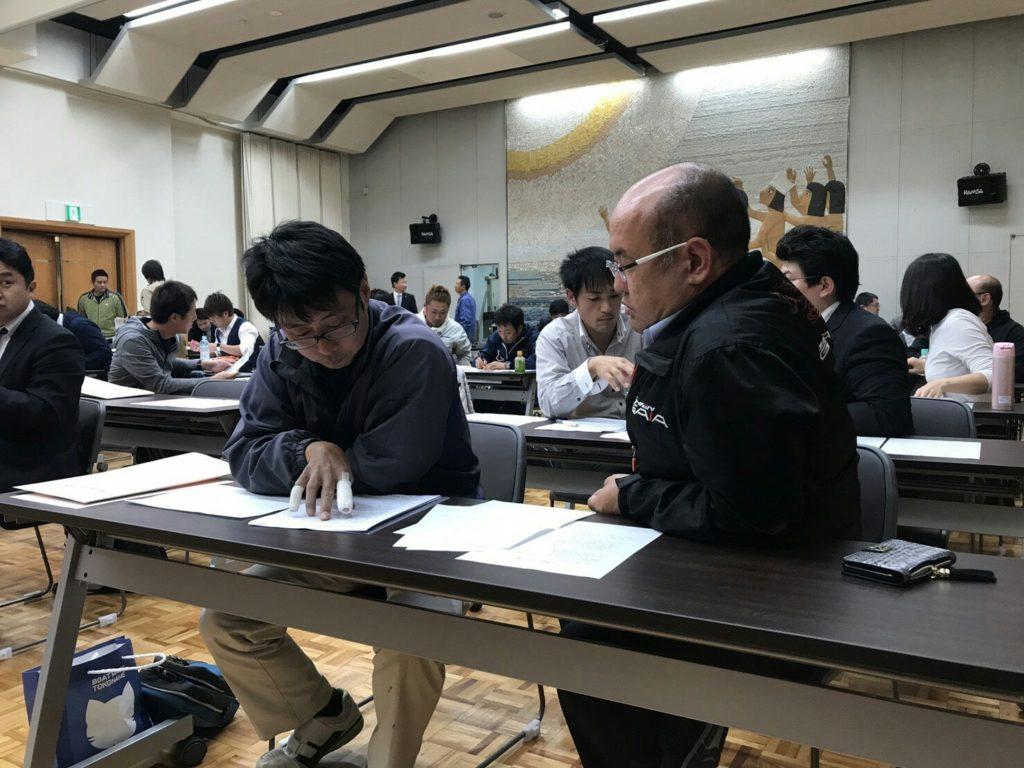 芳賀会長と丸山委員長もみっちり擦り合わせ。