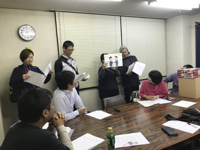後半は岩瀬保子さん、紙芝居は早川美峰副委員長と藤内正規副委員長にやっていただきました。