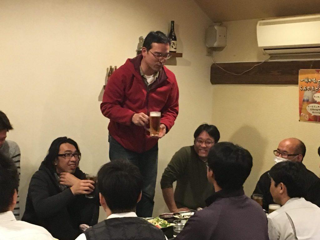 早々に定例委員会終了し、永坂監事の乾杯😋🍻😋で打ち上げスタート