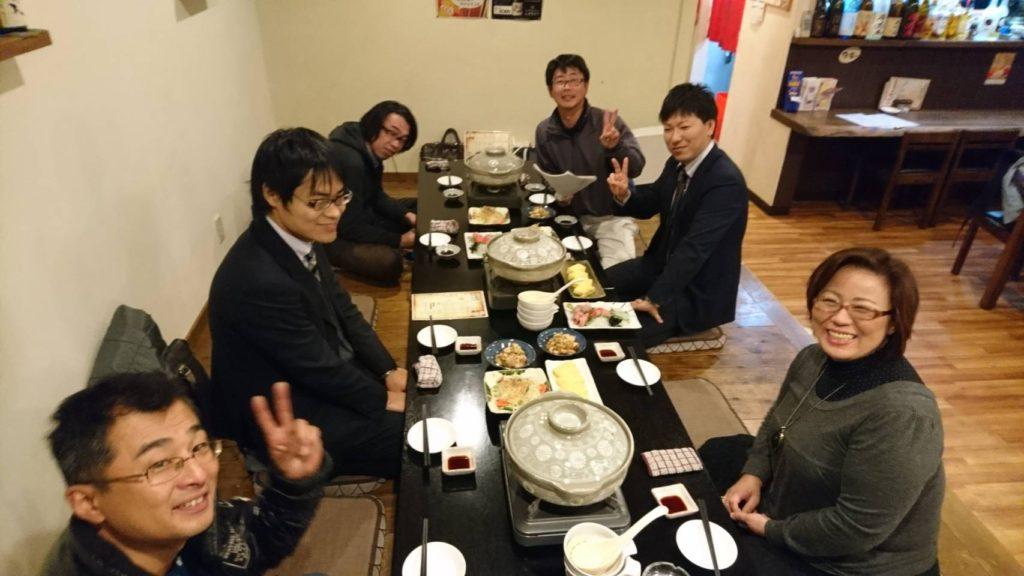 11月臨時総会の設営を終え、忘年会を兼ねた定例委員会が開催されました。